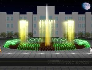 喷泉效果图